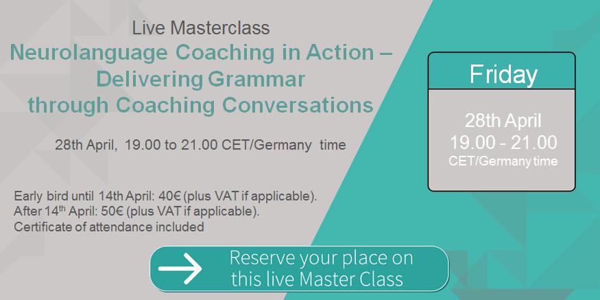 Live Masterclass Neurolanguage Coaching in Action – ELC Language ...